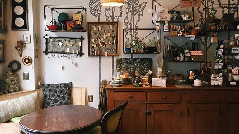 Image of interior of Random Tea Room in Philadelphia, Pennsylvania.
