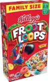 Kellogg's Froot Loops  Breakfast Cereal  Original  Good Source of Fiber  Family Size  19.4 oz Box