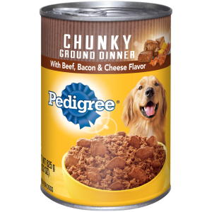 Pedigree Chunky Ground Dinner with Beef Bacon & Cheese Flavor 22 oz