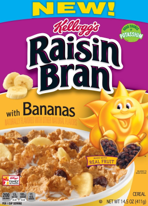 Kellogg's Raisin Bran with Bananas 14.5 oz