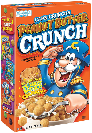 Cap N Crunch Cereal Peanut Butter Crunch - 12.5 Oz