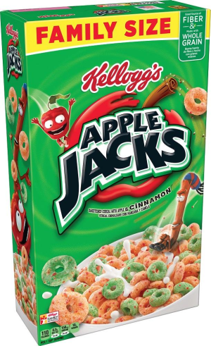 Kellogg's Apple Jacks  Breakfast Cereal  Original  Family Size  19.4 oz Box