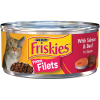 Purina Friskies Prime Filets With Salmon & Beef in Sauce Wet Cat Food 5.5 oz