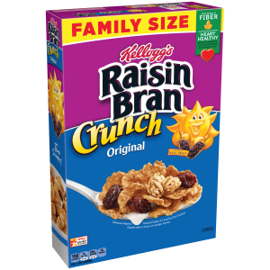 Kellogg's Raisin Bran Crunch  Breakfast Cereal  Original  Good Source of Fiber  Family Size  24.8 oz Box