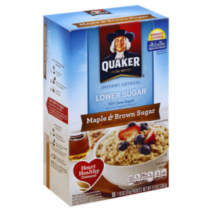 Quaker Lower Sugar Maple and Brown Sugar Instant Oatmeal 11.5oz