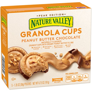 Nature Valley Peak Edition Granola Cups  Peanut Butter  5 Pouches - 1.35 oz