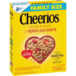 Cheerios Gluten Free Breakfast Cereal  21 oz  Family Size Cereal Box