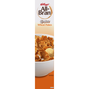 (2 Pack) Kellogg's All-Bran Cereal  Wheat Flakes  18 Oz
