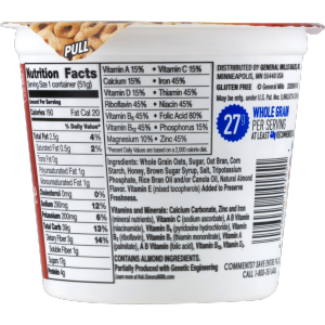 (10 Cups) Honey Nut Cheerios Gluten Free Cereal  1.8 Oz Cup - $1.00/oz