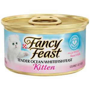 Fancy Feast Tender Ocean Whitefish Feast Kitten Food 3 oz