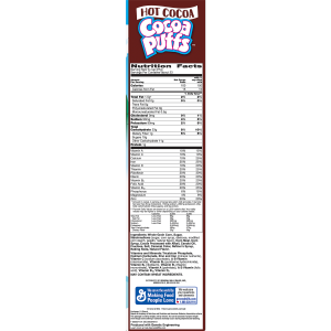 Cocoa Puffs Breakfast Cereal  Hot Chocolate  22.5 Oz