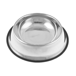 "Unique Bargains Nonslip Rubber Ring Base Stainless Steel Cat Pet Dog Water Food Bowl 2.4"" Depth"