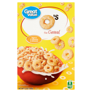 (4 Pack) Great Value O's Oat Cereal  12 Oz
