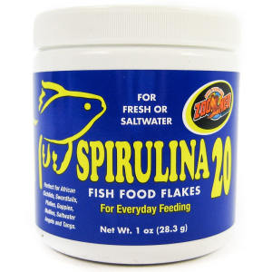 Zoo Med Aquatic Spirulina 20 Fish Food Flakes 1 oz