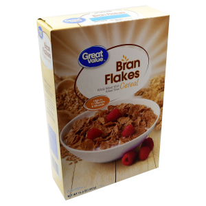 Great Value Breakfast Cereal  Bran Flakes  15.6 Oz