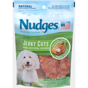 Nudges Natural Jerky Cuts Chicken Wholesome Dog Treats 3 oz