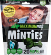 VetIQ Dog Treats Dental Minties For Dogs Maximum Mint Medium Large Pouch - 16 Count