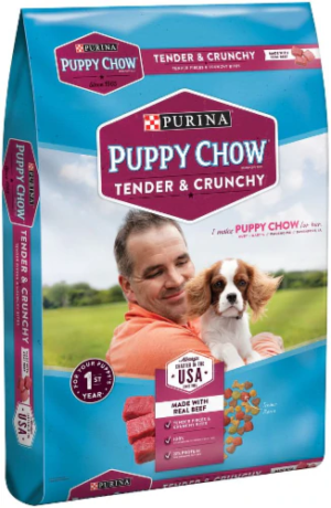 Purina Puppy Chow Tender and Crunchy Dog Food With Real Beef 16.5 lb