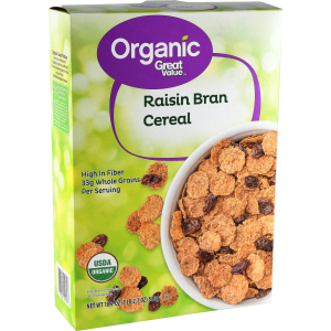 Great Value Organic Raisin Bran Cereal  18.7 oz