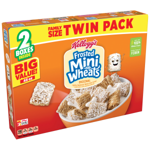 (2 Pack) Kellogg's Frosted Mini Wheats Breakfast Cereal  48 Oz