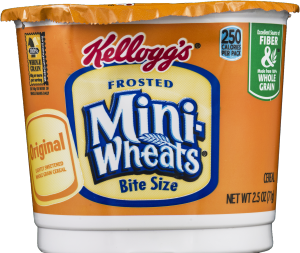Kellogg's Cereal Cups  Frosted Mini-Wheats  2.5 Oz 12 Ct