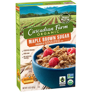 Cascadian Farm Organic Maple Brown Sugar Granola  15 oz