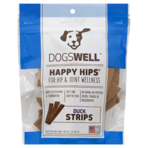 Dogswell Happy Hips Treats for Dogs Strips Duck Pouch - 5 Oz