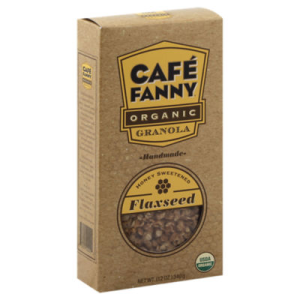 Cafe Fanny Granola Organic Honey Sweetened Flaxseed - 12 Oz