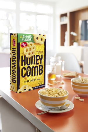 (2 Pack) Post Honey Comb Cereal  16 Oz