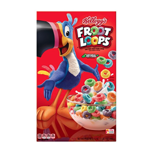 Kellogg's Froot Loops  Breakfast Cereal  Original  Good Source of Fiber  17 oz Box