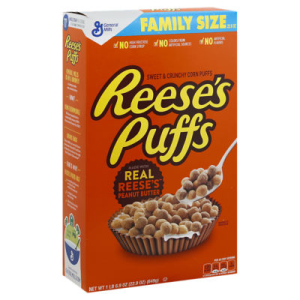 Reeses Puffs Corn Puffs Sweet & Crunchy Family Size - 22.9 Oz