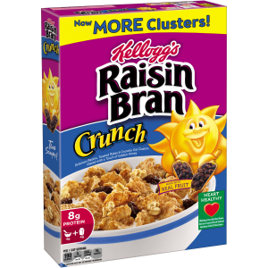 Kellogg's Raisin Bran Crunch Cereal  18.2 Oz (Pack of 3)