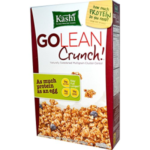 Kashi GOLEAN  Breakfast Cereal  Crunch  Non-GMO Project Verified  13.8 oz
