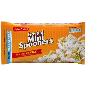 Malt-O-Meal Cereal  Frosted Mini Spooners  18 Oz  Bag (Pack of 3)