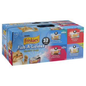Friskies Cat Food Fish-A-Licious Variety Pack Box - 32-5.5 Oz