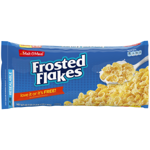 (2 Pack) Malt-O-Meal Cereal Bag  Frosted Flakes  40.5 Oz - $0.12/Oz
