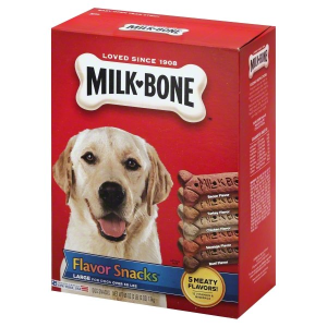 Milk-Bone Flavor Snacks Dog Biscuits - for Large-sized Dogs  60-Ounce