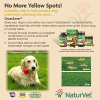 NaturVet GrassSaver Wafer Supplement  Removes The Yellow Spots on Your Grass From Dog Urine  Includes Healthy Enzymes  Made by