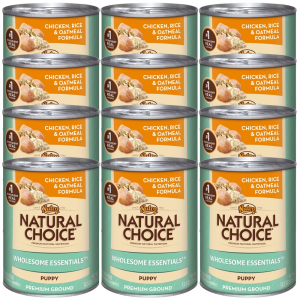 Wholesome Essentials Chicken  Rice  Oatmeal  Puppy 12x12.5oz