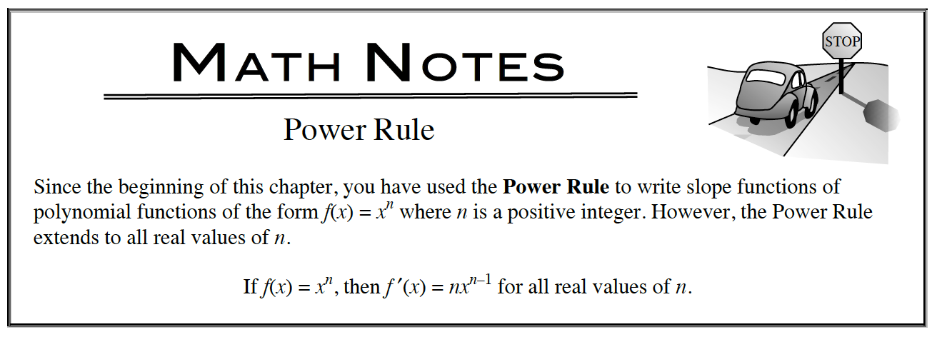 Power Rule Math Note