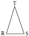 A triangle labelled R, S, and T.