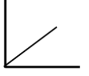 Graph 1 is an increasing line starting at the origin.