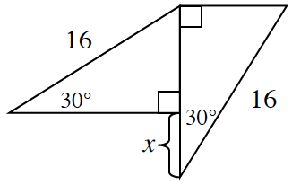 two 30 degree triangles