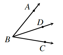 Ray B, D bisects angle A, B, C,.