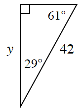 right triangle with two angles and two sides