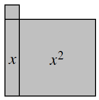1 vertical x tile, with 1 x squared tile connected on the right side, and 1 unit tile connected on top, aligned on the left.