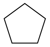A 5 sided polygon with all sides the same length.