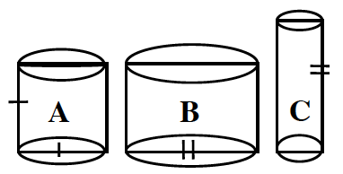 Beakers A, B, and C