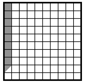 A 100% block. 8.5 squares of the first column are shaded
