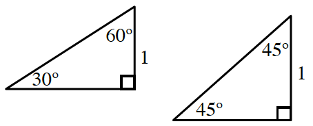 two right triangles